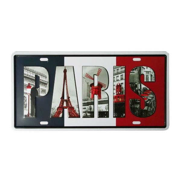 Cedule Paris, 15x30 cm