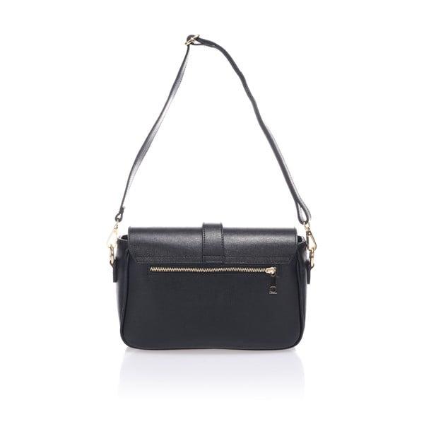 Černá kožená kabelka Markese Modesto