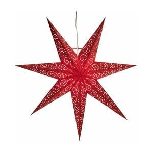 Závěsná svítící hvězda Antique Red, 80 cm
