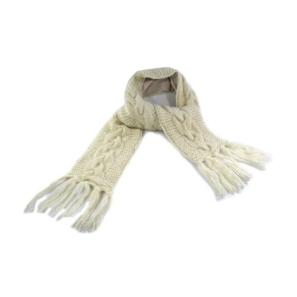 Vlněná šála s fleecovou podšívkou Spacedye Cream