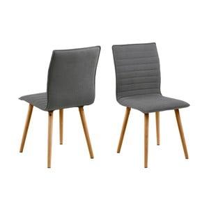 Set 2 scaune Actona Karla, gri deschis