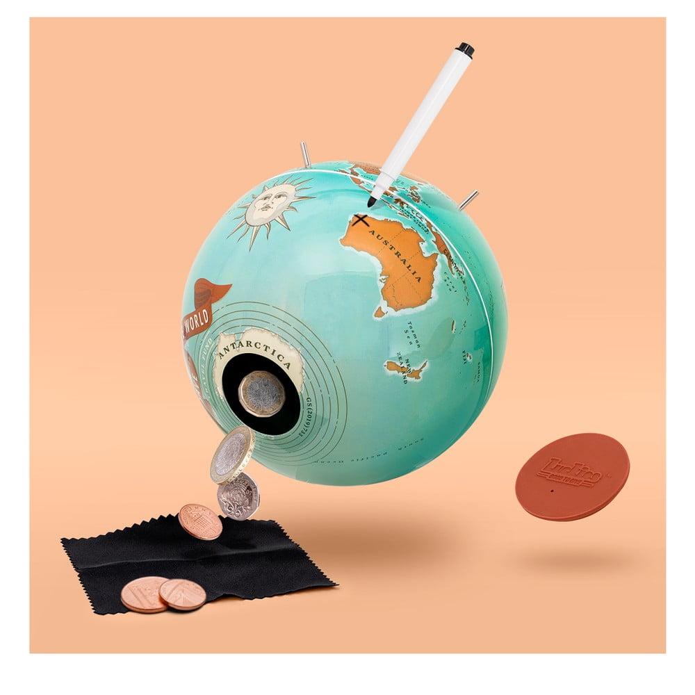 Kasička s motivem zeměkoule Luckies of London Save the World
