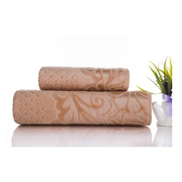 Sada 2ks ručníků Kumsal Light Salmon, 50x90 cm a 70x140 cm