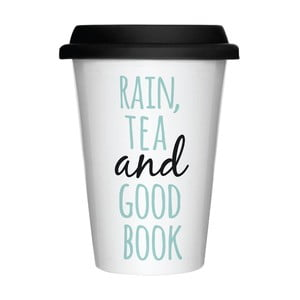 Porcelánový hrnek na cesty Rain & Tea, 300 ml