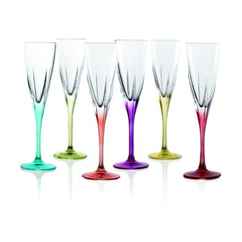 Set 6 pahare pentru vin spumant RCR Cristalleria Italiana Gemma