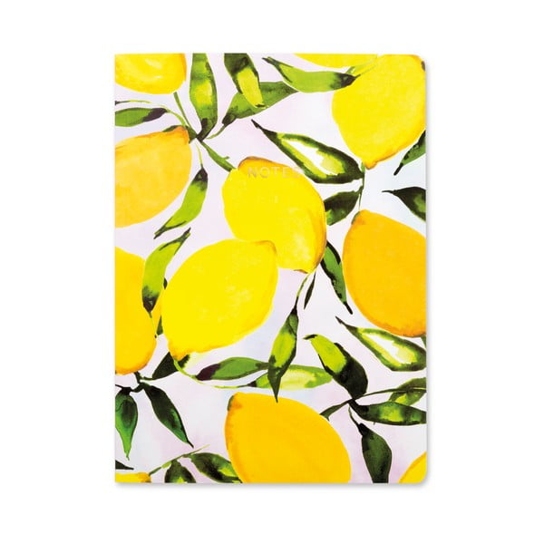 Żółty notes A5 GO Stationery Lemons