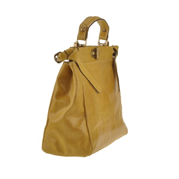 Kožená kabelka Electra, žlutá