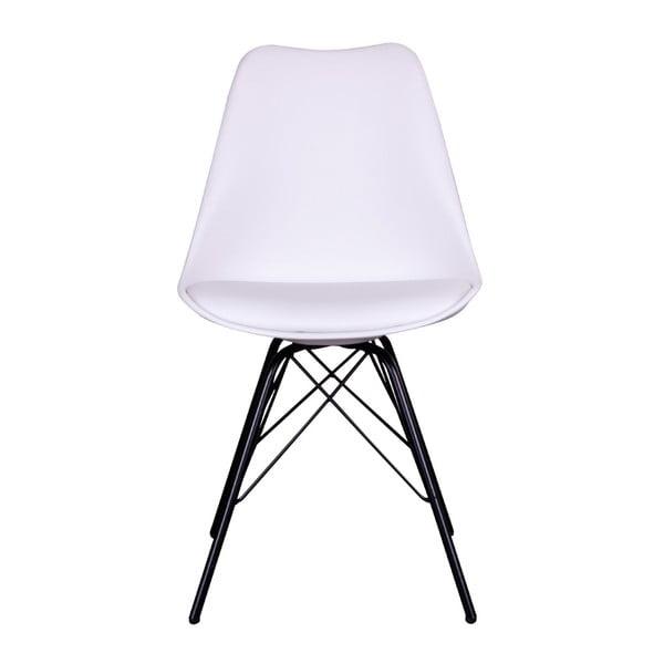 Sada 2 bílých židlí s černými nohami House Nordic Oslo