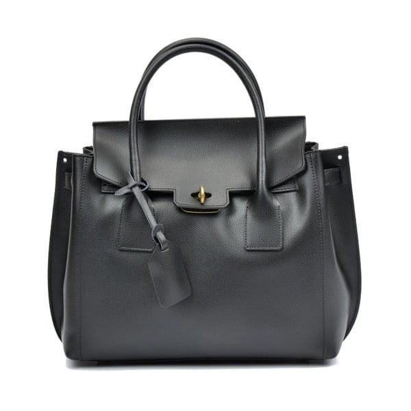 Černá kožená kabelka Luisa Vannini Rebeca