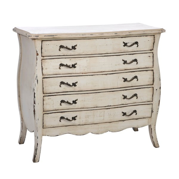 Dřevěná komoda s pěti zásuvkami Fir Cupboard