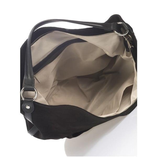 Kožená kabelka Krole Kim, černá