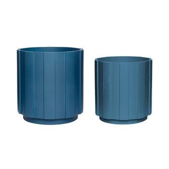 Set 2 ghivece Hübsch Palerro, albastru închis imagine