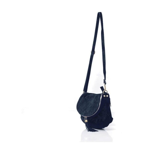 Kožená kabelka Louise, tmavě modrá
