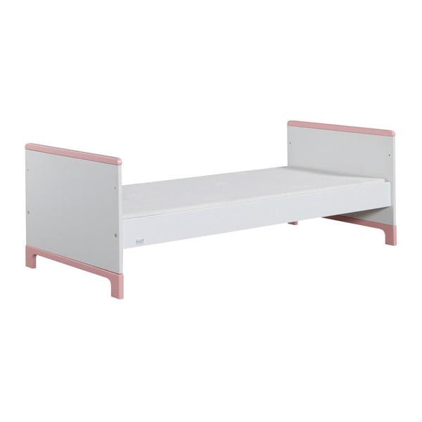 Bílo-růžová dětská postel Pinio Mini, 160x70cm