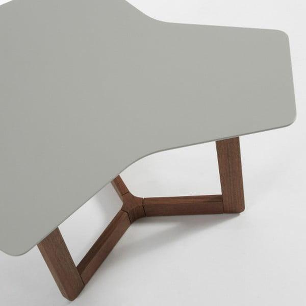 Šedý odkládací stolek s tmavými nohami La Forma Triangle