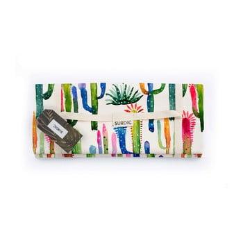Pătură pentru picnic Surdic Watercolor Cactus, 170 x 140 cm de la Surdic
