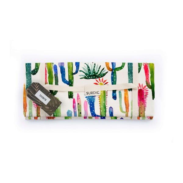 Pătură pentru picnic Surdic Watercolor Cactus, 170 x 140 cm