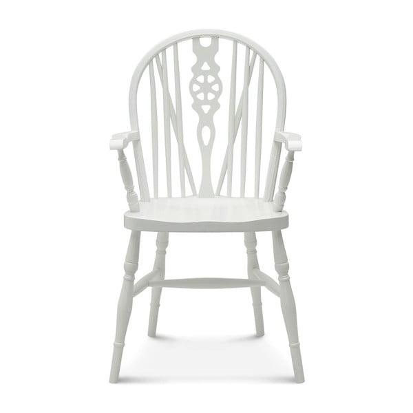 Bílá dřevěná židle Fameg Ib