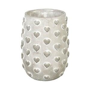 Květináč Concrete Hearts, 19x13x13 cm