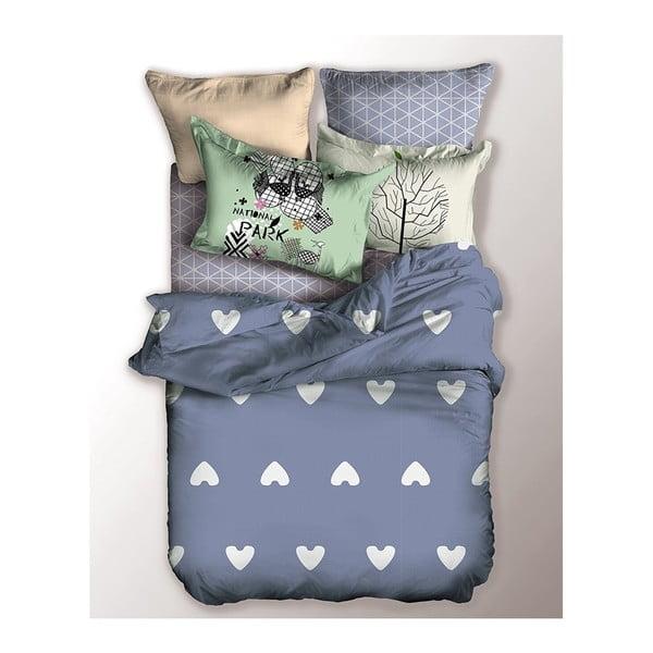Lenjerie de pat pentru 1 persoană DecoKing Basic Chill, 135x200cmm