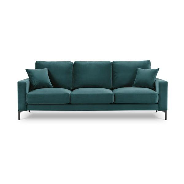 Harmony türkiz bársony kanapé, 220 cm - Kooko Home
