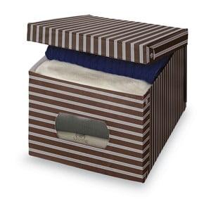 Hnědošedý úložný box Domopak Living, extra velký