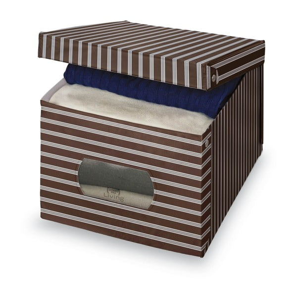 Living barna-szürke tárolódoboz, 31 x 50 cm - Domopak