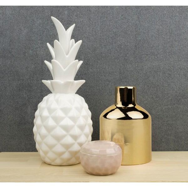 Keramická dekorace Novoform Pineapple, bílá