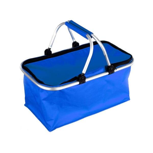 Přenosný nákupní košík Vetro, modrý