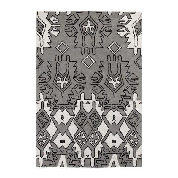 Šedo-stříbrný koberec Think Rugs Spectrum, 120x170cm