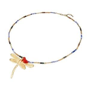Dámský náhrdelník ve zlaté barvě Tassioni Dragonfly
