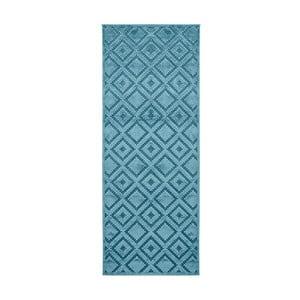 Modrý běhoun Mint Rugs Shine, 80 x 250 cm