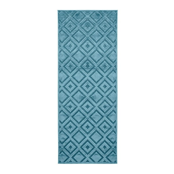 Niebieski chodnik Mint Rugs Shine, 80x250 cm
