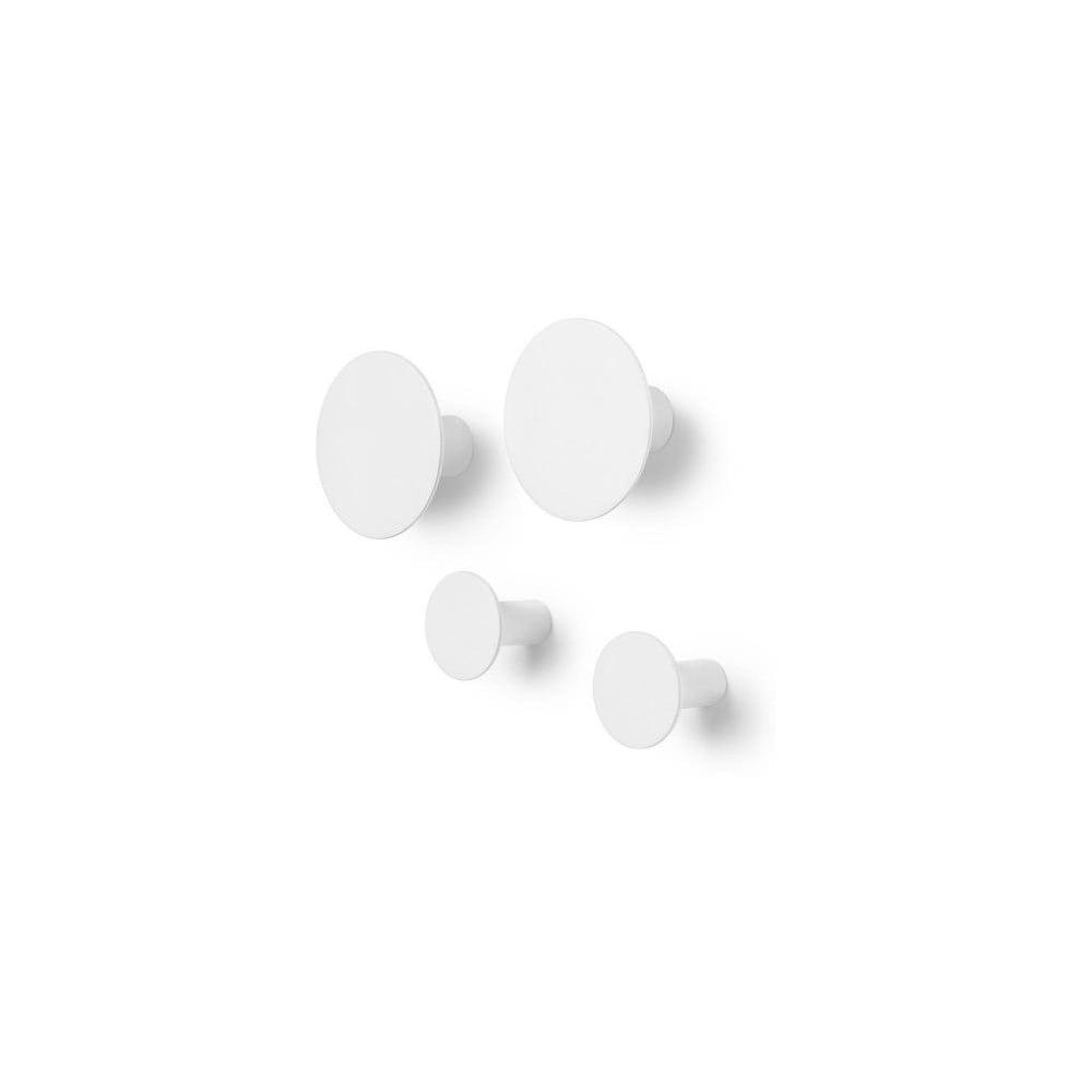 Sada 4 bílých nástěnných háčků Blomus Ponto