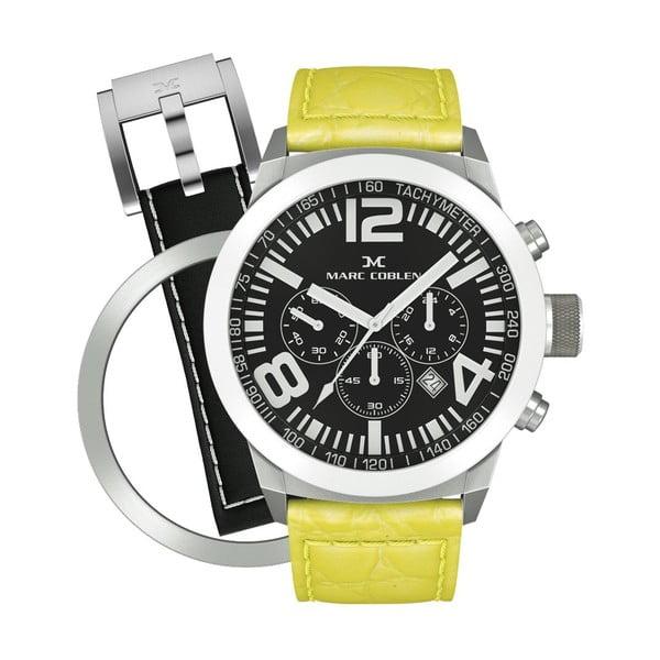 Unisex hodinky Marc Coblen s páskem a kroužkem navíc P8