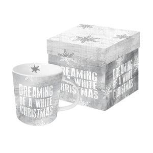Hrnek z kostního porcelánu s vánočním motivem v dárkovém balení PPD Dreaming of Christmas, 350 ml