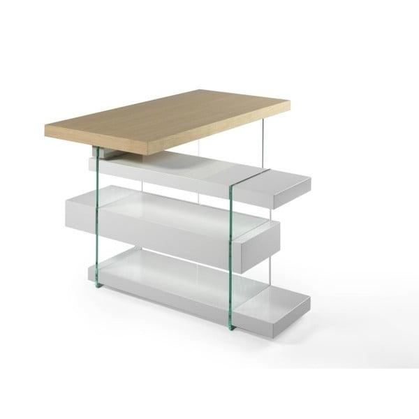 Pracovní stůl ze dřeva a skla Ángel Cerdá Moneta
