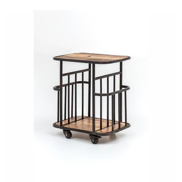 Wózek z drewna mangowego z metalową konstrukcją WOOX LIVING Industrial