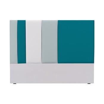 Tăblie pat Mazzini Sofas Dahlia, 120 x 160 cm, gri - turcoaz imagine