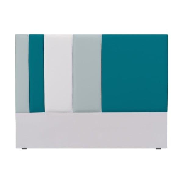 Tăblie pat Mazzini Sofas Dahlia, 120 x 160 cm, gri - turcoaz