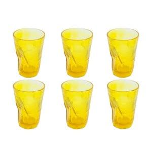 Sada 6 sklenic Kaleidos 340 ml, žlutá