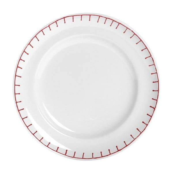 Set tří talířů Sophie, 21 cm, červený