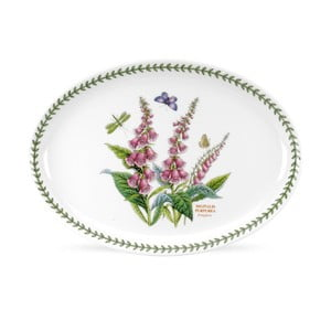 Oválný talíř z porcelánu Portmeirion Foxglove, šířka 33 cm