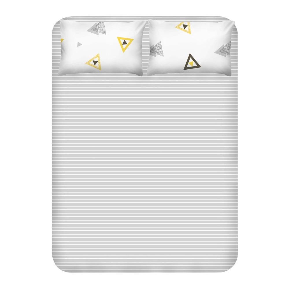 Set prostěradla a 2 povlaků na polštáře EnLora Home Erois White, 240 x 260 cm