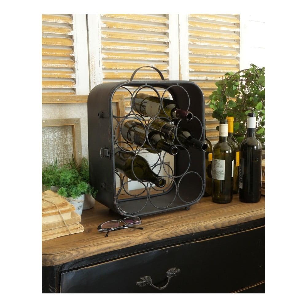 Černý železný stojan na víno Orchidea Milano