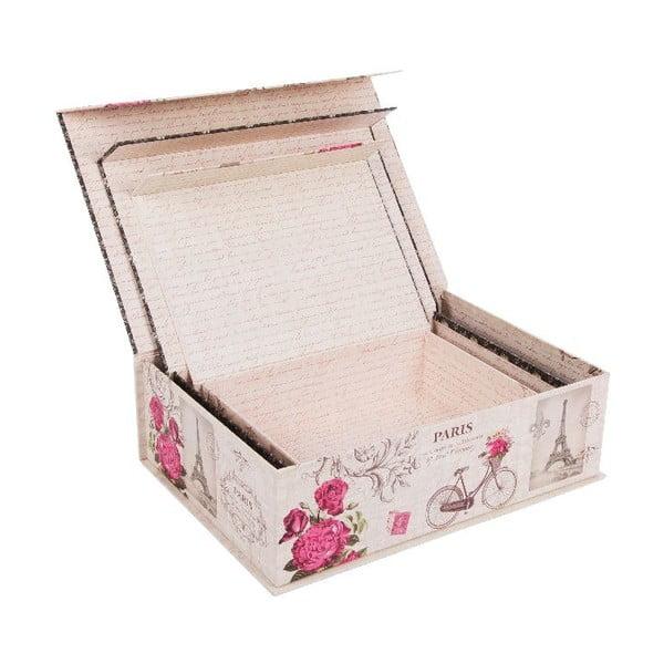 Sada 3 úložných krabic Tender