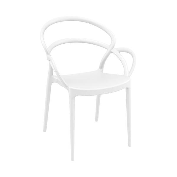 Set 4 scaune de grădină Resol Mila, alb