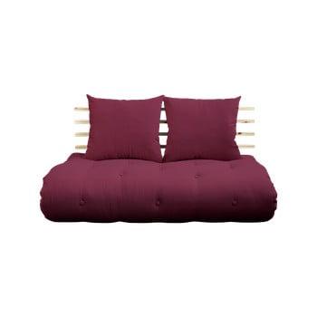 Canapea extensibilă Karup Shin Sano Natur/Bordeaux