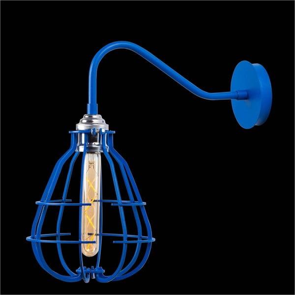 Modrá nástěnná lampa Lantern Cage