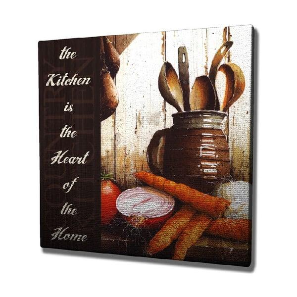 Kitchen vászon fali kép, 45 x 45 cm